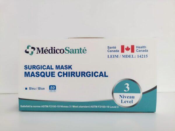 Masque médical ASTM Niveau 3